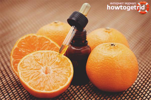 Апельсиновый эфир против прыщей
