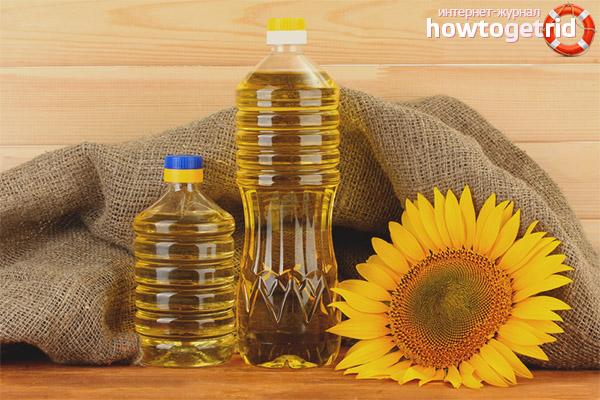 Подсолнечное масло от запоров у детей