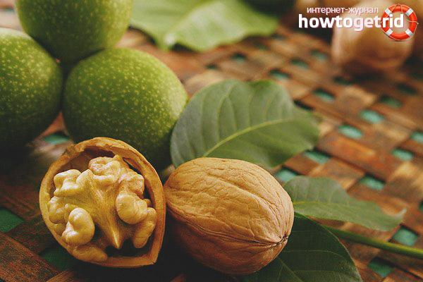 Целебные качества неспелого грецкого ореха