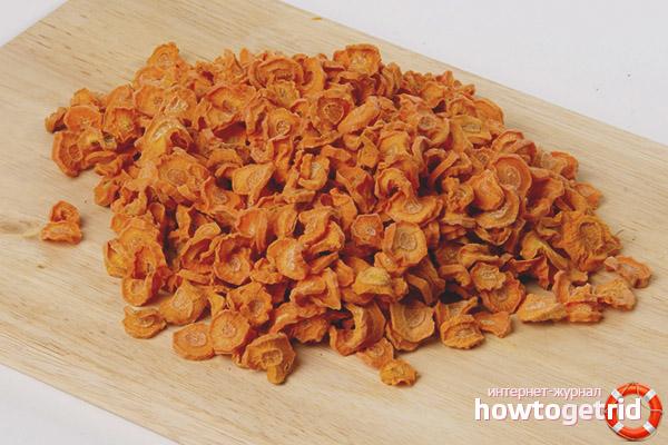 Как высушить морковь для чая