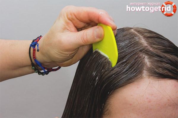 Как выводить вшей у девочек с длинными волосами