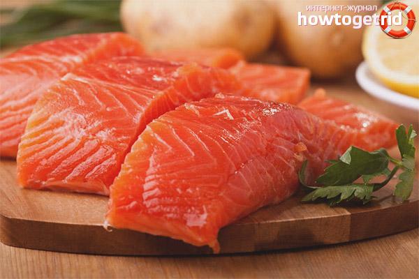 Вред красной рыбы при грудном вскармливании