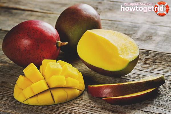Способы употребления манго